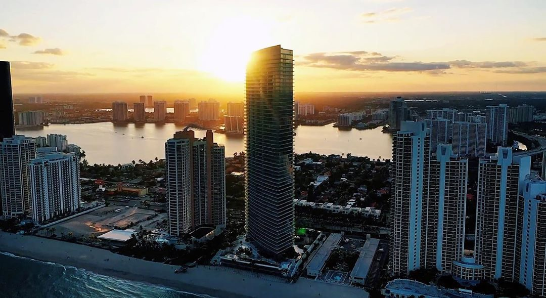 IN SUNNY ISLES, THE 56-STORY ARMANI TOWER IS NOW COMPLETE & VALUED AT $1 BILLION. HERE'S A FIRST LOOK INSIDE
